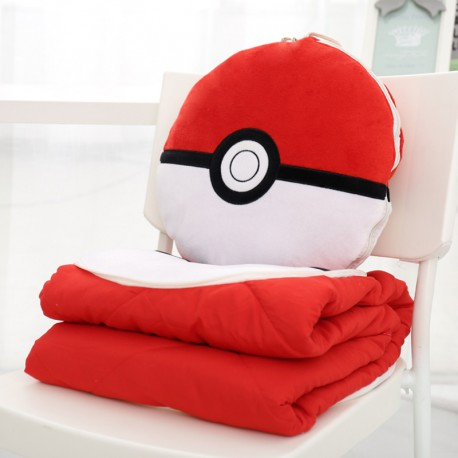 Oreiller-Couverture Pokeball Multifonction