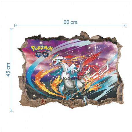 Autocollant mural 3D Pokemon