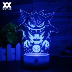 Lampe 3D Ectoplasma Pokemon
