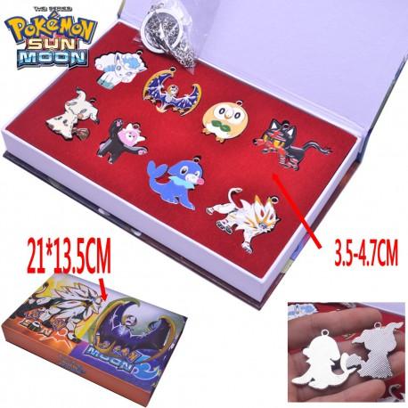 Lot de 8 Pendentifs Pokemon Soleil et Lune