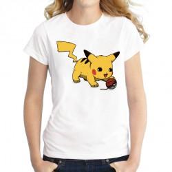 T-Shirt Pikachu chaton Femme ETE 2019