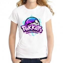 Tee Shirt Pokket Monster Pokeball Femme