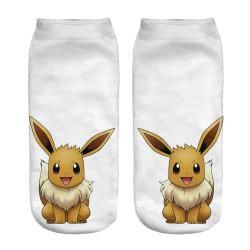 Chaussettes courtes Pokémon adulte Evoli Miaouss Salameche etc