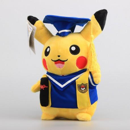 Peluche Pokemon Pikachu Diplomé 27cm