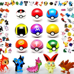 9 Pokeball + 24 Figurines