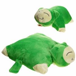 Coussin Ronflex Vert en peluche 35*35cm