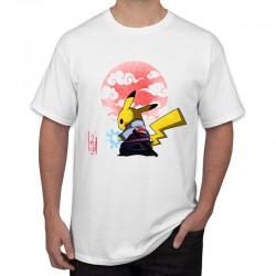 T-Shirt Pikachu Samourai Soleil Couchant Homme 2019