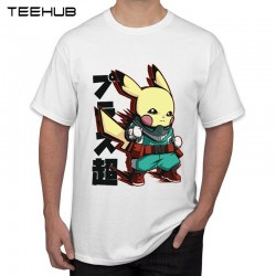 T-Shirt Pikachu Naruto Vert Homme 2019