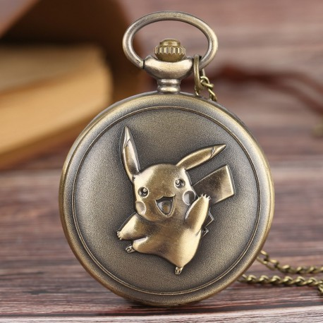 Montre à Gousset Pikachu Style Bronze