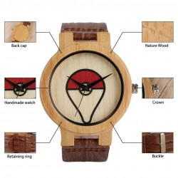 Montre en Bois Pokemon GO