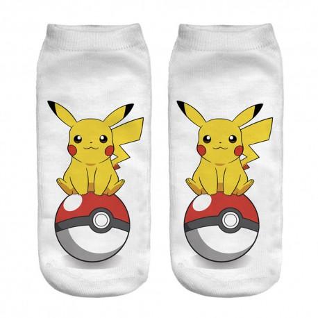 Chaussettes courtes Pikachu adulte