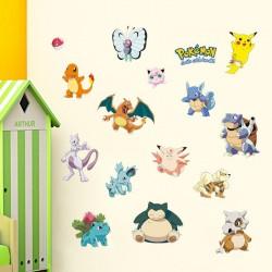 Stickers Mural Pokemon x15 entre 10 et 25cm pièce