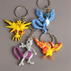 Porte Clef Pokemon Légendaires 3D | Porte-clé Mewtoo | Porte cle Artikodin | Porte clés Electhor | Porte-clef Sulfura