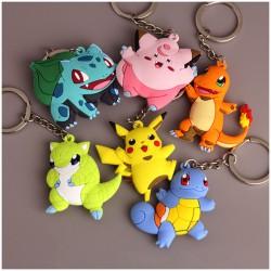 Porte Clef Pikachu 3D Pokemon | Porte-clé Pikachu | Porte cle Salameche | Porte-clef Bulbizzare | Porte-clé Rondoudou