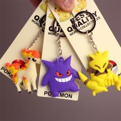Porte Clef Pokemon Go 3D Double face | Porte Clef Osselait | Porte Clé Ponyta | Porte-Cle Abra | Porte-Clé Ectoplasma