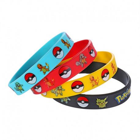 Bracelet Pokemon Go | Bracelet pokémon bleu | Bracelet Pikachu | Bracelet Pokemon Rouge