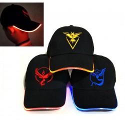 Casquette Pokemon Go LED | Acheter casquette pokemon LED | Acheter Casquette Logo Equipe Pokemon