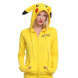 Veste Pikachu Femme|Sweat a capuche Pokemon |Veste Pokemon Pikachu | Sweat Pikachu | Veste Pikachu femme pas cher