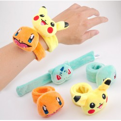 Bracelet Slap Pokemon | Bracelet a claquer pas cher | Bracelet Pikachu | Bracelet Peluche Pokemon