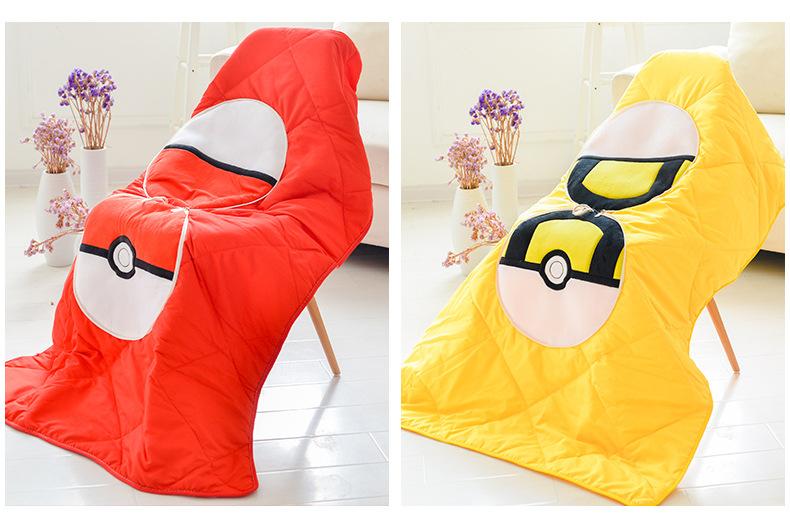 coussin pokemon ouvert en mode couverture